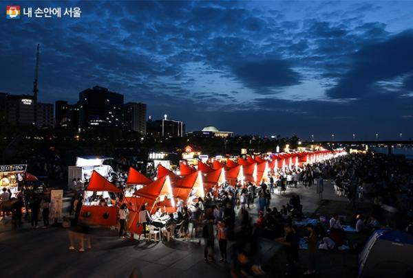여의도한강공원 물빛광장에서 열린 서울밤도깨비야시장
